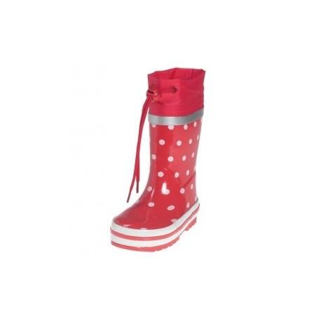 regenlaarzen Stippen Rood