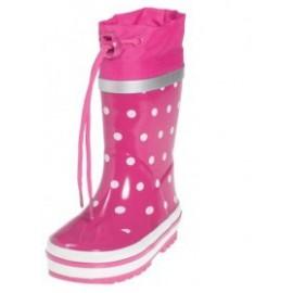 regenlaarzen Stippen Roze