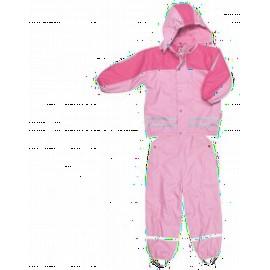 Regenpak gevoerd -Roze
