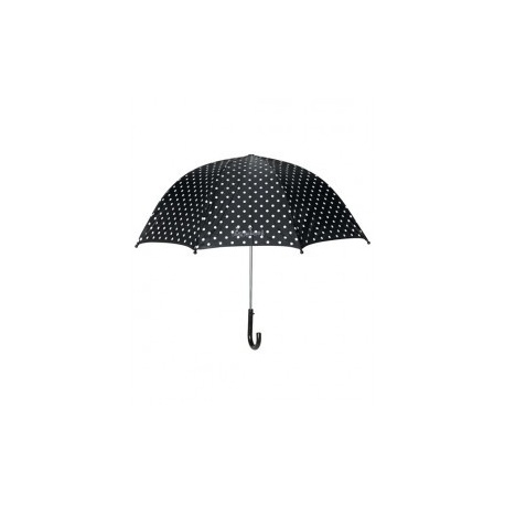 Paraplu met stippen - zwart