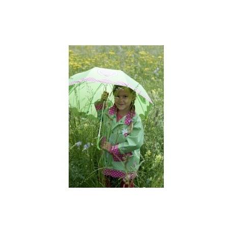regenjas meisje country Style groen