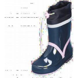Blauwe regenlaars met licht roze accent