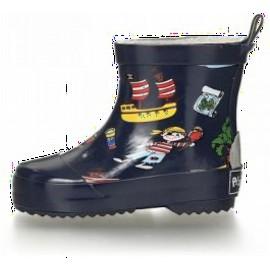 enkel regenlaarzen piraat | korte regenlaarsjes