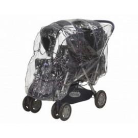 Regenhoes tandem kinderwagen