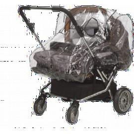 Regenhoes tweeling kinderwagen