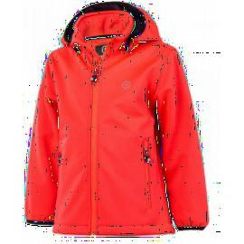 softshell Coral Color kids: warm, ademend en w aterafstotend