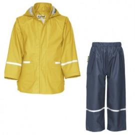 regenpak Geel met blauwe broek