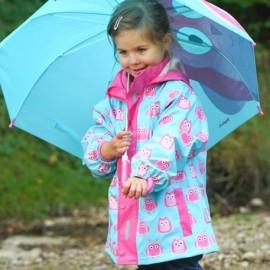 Regenjas Uil | meisjes regenjas