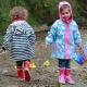 Regenjas blauw wit gestreept Playshoes