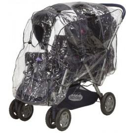 Regenhoes tweeling stroller