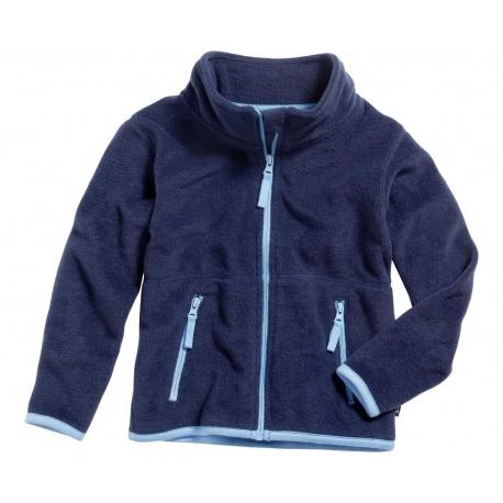 kinder fleece vest donkerblauw
