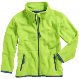 Fleece vest kind groen