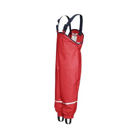 Gevoerde Regenbroek kind bretels - Rood